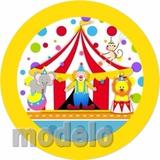 Kit Fest Infantil Personalizado 195 Adesivo Circo Palhaço 1