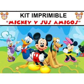 Kit Imprimible Para Tu Fiesta De Mickey Y Sus Amigos