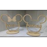 Enfeite Centro De Mesa 20 Un. Mickey Ou Minnie Personalizado