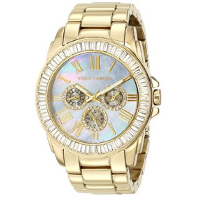 Vince Camuto Womens Vc/5158gmgb Swarovski Crystal Accented M