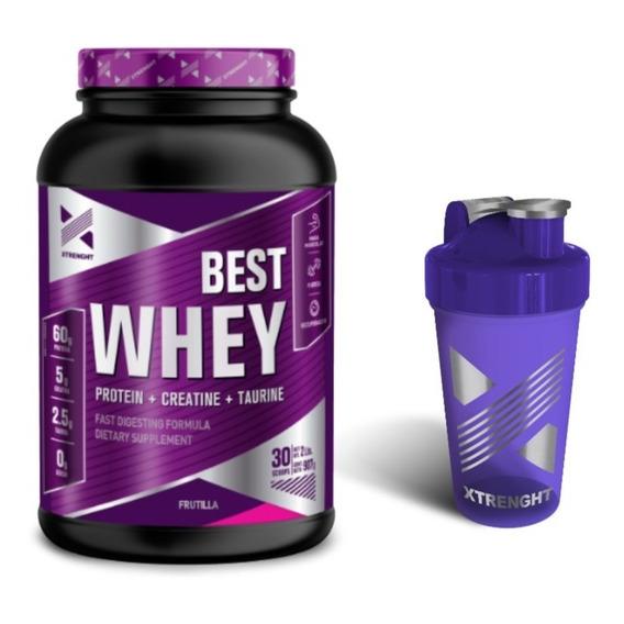 Xtrenght Best Whey Protein Proteina De Suero Wpc80 + Creatina + Taurina  + Enzimas Digestivas Tienda Oficial Oferta