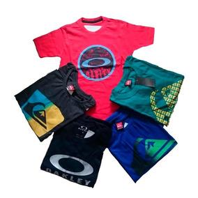 Kit 05 Camisetas Varias Marcas Infantil E Juvenil Menino.