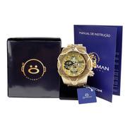 Relógio Masculino Spaceman Analógico + Caixa Premium Ros60