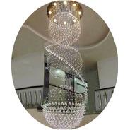 Lustre Cristal 3 Globos 80cm 3,5 A 4 Metros Promoção