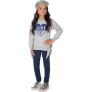 Conjunto Moletom Infantil Menina Raglan E Legging Inverno
