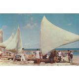 Rec-3943- Postal Recife, P E- Jangada Volta Pesca Praia B. V