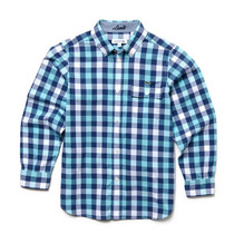 Camisa Lacoste, Niños, Manga Larga, Cuadros, Poplin, Cj7919