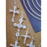 Dije Cruz Con Cristo En Plata 925, Ref. 439, Joyeria Mimi