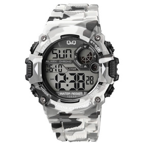 Reloj Q&q By Citizen Tactico Camuflaje Gris M146