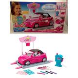 Salão Automóvel Com Carro Conversível Barbie Original Mattel
