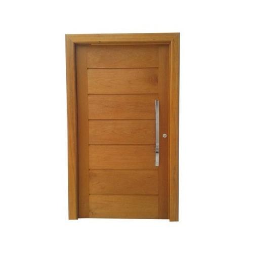 Porta Pivotante De Madeira Maci?a Montada 2,14x0,97