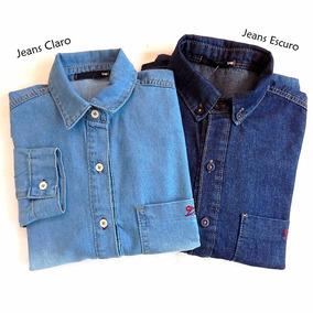 Kit Com 2 Camisas Jeans Tng - Jeans Claro E Escuro