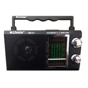 Radio Am Fm Sw Antigo Retro Com 12 Bandas Pilhas Ou 110v