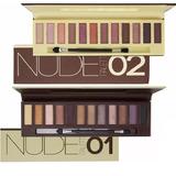Kit 2 Paletas 24 Sombras Vivai Nude Maquiagem Pincel Naked