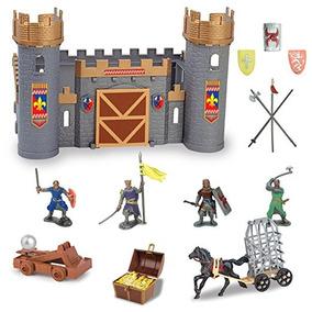 Castillo Medieval De Caballeros Figura De Acción De Juguete