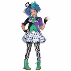 Disfraz Niña Alicia En El Pais Sombrerero Loco Gde Xl