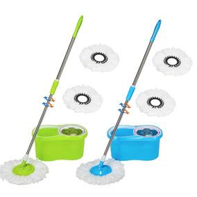Balde Spin Mop 360 Centrifuga Inox Com Esfregão Com 03 Refil
