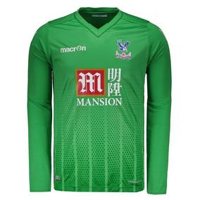 Camisa Macron Crystal Palace Goleiro 2016 Verde da40b60ee7920