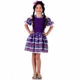 Vestido Caipira Ana Julia Luxo Tam P 3/4 Festa Junina