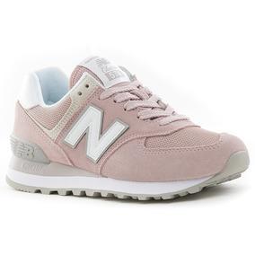 zapatillas new balance wl 574 bfp mujer azul verde rosa