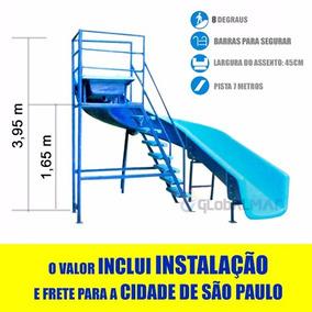 Toboágua 7m Pista Curvo Instalação E Frete Grátis Clube