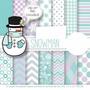 Kit Imprimible Pack Fondos Hombre De Nieve Clipart