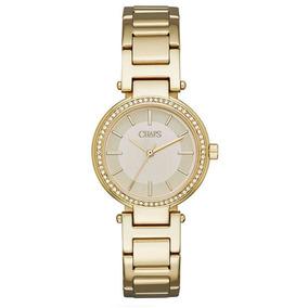 Chaps Alanis Gold-tone Reloj De Tres Manecillas, Dorado