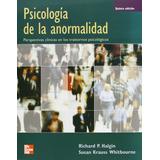Psicologia De La Anormalidad Halgin