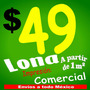 Lona Publicitaria Impresa, Calidad Comercial, Microperforado