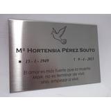 Placa Homenaje 20cm X 25cm, Cementerio, Placa Recordatoria