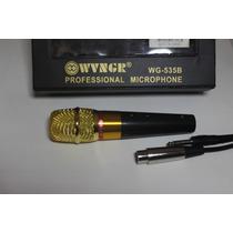 Microfone Profissional Com Cabo Wg535b No Shure Sm58 Mxt