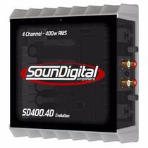 Amplificador Sd400x4 Soundigital Modulo Mono Stereo 400w Rms