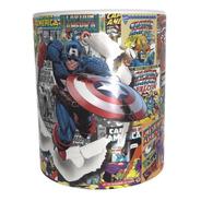 Taza Comics Coleccionable Capitan America Vengadores #03