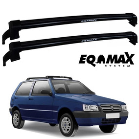 Rack Teto Eqmax Fiat Uno Mille 2pts 88 89 Á 2004 Wave Preto
