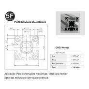 Perfil Estrutural Em Alumínio 40x40x1000mm - Básico