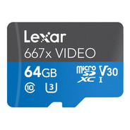 Lexar Lsdmi64gvbna667a Professional 667x Video 64gb Microsdx