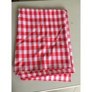 Toalha De Mesa De Jantar Xadrez Vermelho E Branco 2m X 1,4m