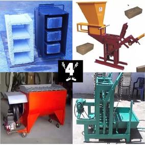 4planos Maquinas Bloqueras Moldes Bloques Mezcladora Cemento