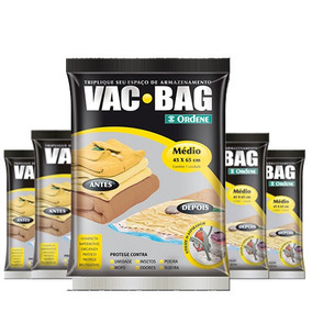 Combo: 5 Sacos A Vácuo Protetor Vac Bag 45 X 65 Ordene Médio
