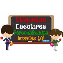 Etiquetas Escolares Imprimibles Personalizadas