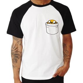 Camiseta Raglan Hora De Aventura Jake Bolso Finn