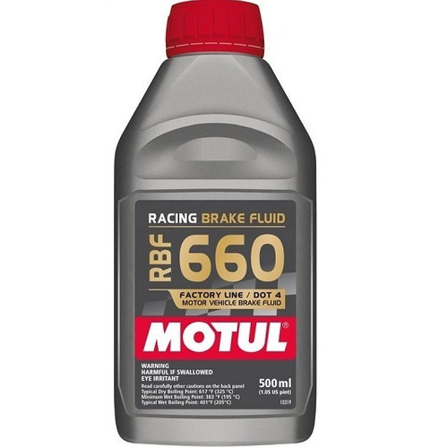Fluído Freio Motul Racing Brake Fluid Rbf660 325o 500ml Dot4