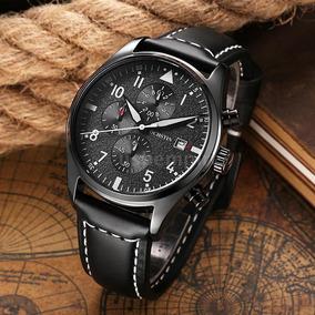 Relógio Ochstin Pulseira Couro Luxo Caixa P/ Presente