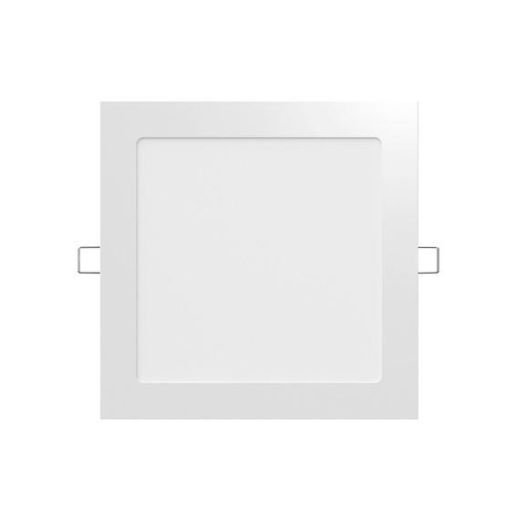 Plafon Panel Led 12w Embutir Cuadrado R
