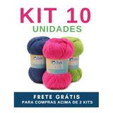 Linha Lã Fio Cisne Premium 100g - Kit 10 Novelos 4ded2cd91de
