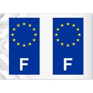 2 Adesivos França União Europeia - Francês - Outros Países