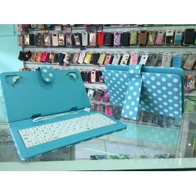 Capa Teclado Tablet Verde/rosa 7 Polegadas Entrada V8 Usb