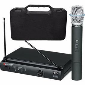 Microfone Sem Fio Karsect Kru 301 Mão Profissional Loja