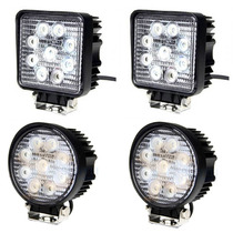 Faros Led 27w 5400 Lumens 2 Pzs Jeep Motos 4x4 Off Road