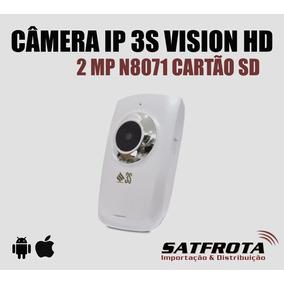 Camera Ip 3s Vision Hd 2 Meg. N8071 Cartão Sd